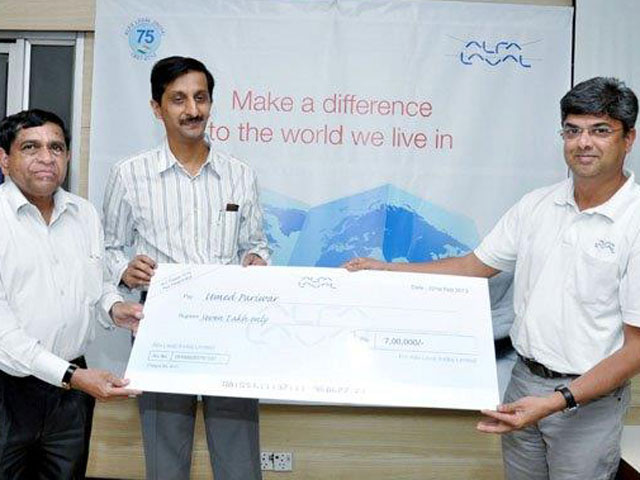 Alfa Laval India Pvt. Ltd., Pune. Kind donators for Umed's cause