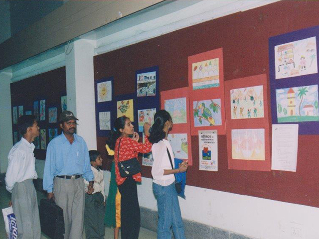 Display of Drawings made by Special children
